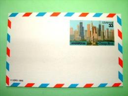 """USA 1985 Unused Pre Paid Postcard """"AMERIPEX 86 - Chicago Skyline"""" - Etats-Unis"""