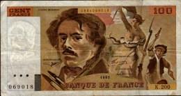 100 F  DELACROIX..K.200..No 069018...1991..... - 1962-1997 ''Francs''