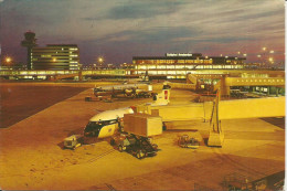 AMSTERDAM INTERNATIONAL AIRPORT SCHIPHOL AT NIGHT - Aerodrome