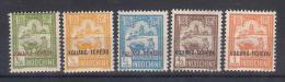 Kouang-Tcheu Y/T  Nr 73/77*  (a6p13) - Unused Stamps