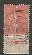 SEMEUSE  PUB LA REDOUTE  N� 199 TYPE IV OBL TB