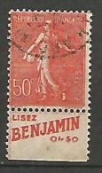 SEMEUSE  PUB BENJAMIN  N� 199 TYPE IIA OBL TB