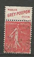 SEMEUSE  PUB GREY POUPON  N� 199 TYPE IIA OBL TB