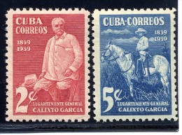 Cuba, Yvert 260&261, Scott 359&360, MNH - Cuba
