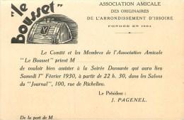 63 - Issoire - Carte Ancienne - Association Amicale Des Originaires D´Issoire ** Le Bousset **- (9 X 14 Cm) - Dos Vierge - Issoire