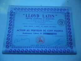 LLOYD LATIN (1924) - Unclassified