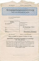 Kriegsgefangenenpost Prisonnier Guerre CHAMBEAU C BELESTA STALAG VII/B 14 Camp 1380 Matricule 45541 Colis Postaux - Guerre De 1939-45