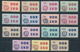 DDR Dienstmarken C 1/15 Gestempelt Ungültigkeitsentwertung Mi. 40,- - Dienstpost