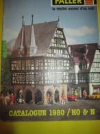 FALLER/ Catalogue 1980/ HO & N / La Réalité Autour D'un Rail /Version Française/ 1980    VOIT31 - Catalogi