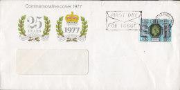Great Britain Ersttags Brief FDC Cover 1977 Silverjubilee QEII. The Spastics Society Cachet - 1971-1980 Dezimalausgaben