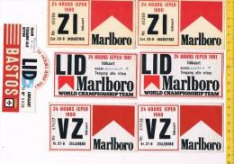 kl 579 - 7 lidkaarten 24 hours ieper 1983 -1980 -1981