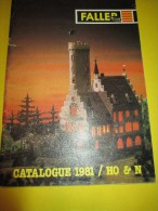 FALLER/ Catalogue 1981/ HO & N / Faller Pour Les Urbanistes Amateurs/Version Française/ 1981    VOIT32 - Catalogues
