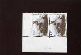 Belgie Buzin Vogels Birds 3538 4.30€ Bande Datée Datumstrook Drukdatum In Paar 28/4/2006 - 1985-.. Birds (Buzin)