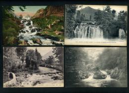 CASCADES - WATERFALLS - LOT DE 1655 CARTES DIVERSES  - COLLECTION PERSONNELLE - DETAIL DANS LA DESCRIPTION - Postcards
