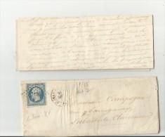 =FR 18?? Cv+letter - 1863-1870 Napoléon III. Laure