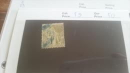 LOT 222411 TIMBRE DE COLONIE GENERALE OBLITERE N�59 VALEUR 50 EUROS