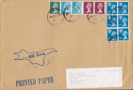 Great Britain Airmail Printed Paper Cds. M.L.O. Southhampton 1984 Cover To INDIANAPOLIS Scotland Local Issue 6-Block - Local Issues