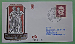 Brief FDC Briefmarken Deutschland Gottfried Schadow Berlin 1975 Ersttagsbrief - Berlin (West)