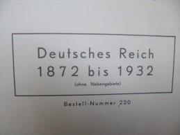 DEUTSCHES REICH Tr�s Belle Collection 1872-1932 NEUF*/** et Oblit�r� Album FORT COMPLET(manque 15 scans)