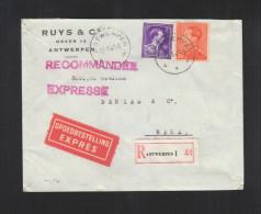 Expres Brief  Antwerpen 1946 (16) - Belgien