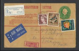 Australia 1967 Registered Airmail QEII Fishes To Pakistan. - 1966-79 Elizabeth II