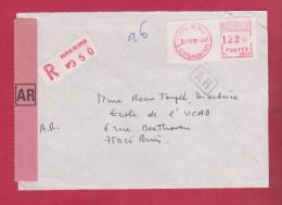 Enveloppe Recommandée //  Départ Paris  16 Eme Arron //  26/06/1981 - Marcophilie (Lettres)