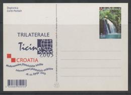 CROATIA, 2003,  PREPAID POSTCARD, MINT , WATERFALLS, NICE POSTAL STATIONERY - Geology