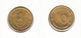 Allemagne   10 Reichspfennig 1939 D