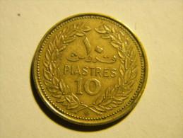 LIBAN - 10  PIASTRES 1970. - Lebanon