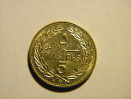 LIBAN - 5 PIASTRES 1972. - Lebanon