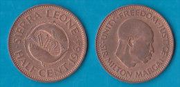SIERRA LEONE  - 1/2  Cent 1964 - Sierra Leone