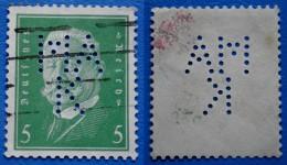 GERMANY REICH 5 Pfg 1928 PERFIN *MAK*- Perf.14 1/2 PAUL V.HINDENBURG - Ohne Zuordnung