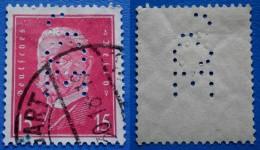 GERMANY REICH 15 Pfg 1928 PERFIN *JOE*- Perf.14 1/2 PAUL V.HINDENBURG - Ohne Zuordnung