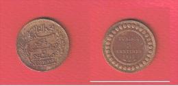 TUNISIE  //  5 Centimes  1912 A //  KM # 235   //   état  TTB - Tunisie