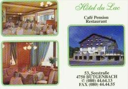 CP.   BÜTGENBACH.  CAFE  PENSION  HOTEL  DU  LAC - Butgenbach - Buetgenbach
