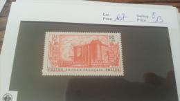 LOT 222672 TIMBRE DE COLONIE SOUDAN NEUF* N�107 VALEUR 13 EUROS