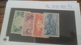 LOT 222717 TIMBRE DE COLONIE OUBANGUI NEUF* N�84 A 87 VALEUR 27 EUROS