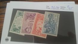 LOT 222718 TIMBRE DE COLONIE TCHAD NEUF* N�56 A 59 VALEUR 25 EUROS
