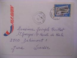 Cameroun Lettre De Yaounde 1981 Pour Delemont - Kameroen (1960-...)