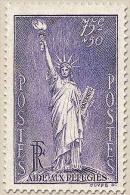 Au Profit Des Réfugiés Politiques. Statue De La Liberté, Par Frédéric-Auguste Bartholdi (1834-1904) 75c. + 50c. Violet Y - Frankreich