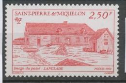 SPM  N°538 Images Du Passé. 1f.70 Bleu Langlade ZC538 - St.Pierre Et Miquelon
