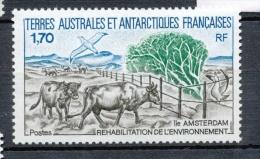 T.A.A.F 1990 N°149 Réhabilitation De L'environnement à L'île Amsterdam.  N** ZT83A - Terres Australes Et Antarctiques Françaises (TAAF)