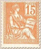 Type Mouchon. Type (II). 15c. Orange Y117 - Frankreich