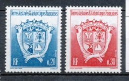 T.A.A.F 1993 N°171-172 Série Armoiries Du Territoire. Type L.  N** ZT103A - Terres Australes Et Antarctiques Françaises (TAAF)