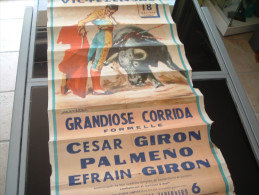AFFICHES affiche corrida  � vic fezensac  mai 1964   2 scans format  900 x 450