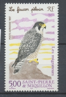 SPM  N°76 Les Migrateurs Le Faucon Pèlerin 5f Multicolore ZC76 - St.Pierre & Miquelon