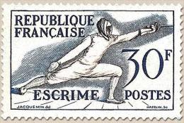 Jeux Olympiques D'Helsinki (1952) Escrime 30f. Bleu-violet Et Bistre. Neuf Luxe ** Y962 - Unused Stamps
