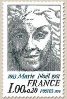 Personnages Célèbres. Marie Noël 1f. + 20c. Bleu-noir Et Bleu Y1986 - Francia