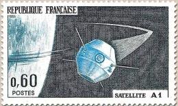 Lancement Du Premier Satellite National, à Hammaguir (Sahara) 60c. Bleu-noir, Bleu Et Bleu-vert. Satellite A1. Y1465 - France