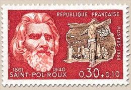 Célébrités. Paul-Pierre Roux, Dit Saint-Pol-Roux, Et Golgotha 30c. + 10c. Bistre-rouge Et Sépia Y1552 - Francia